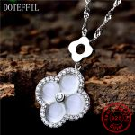 Fashion 925 <b>Silver</b> Pendants <b>Jewelry</b> Symbol of Love Clover Necklace <b>Sterling</b> <b>Silver</b> Necklaces for Women Best Gift