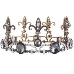 Baroque Vintage Men Diadem Large Crystal Full Round Prom King Crown <b>Wedding</b> Pageant Queen Tiara Bridal Hair <b>Jewelry</b>