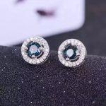 natural sapphire stone stud <b>earrings</b> 925 <b>silver</b> Natural gemstone <b>earring</b> women classic fine stud <b>earrings</b> jewelry for party