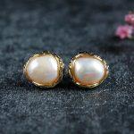 design manual baroque pearl <b>earrings</b>, 925 <b>sterling</b> <b>silver</b> ornaments Wholesale fashion stud <b>earrings</b> <b>earrings</b> factory