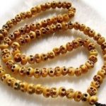 Tibetan <b>handmade</b> <b>jewelry</b> 108 Pieces BONE SKULL HEAD BUDDHA Bead Long NECKLACE
