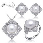 wedding pearl jewelry sets for women,real natural bridal jewelry sets 925 sterling <b>silver</b> wife anniversary birthday gift