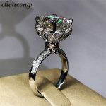 choucong Crown Heart ring 3ct Diamonique cz 925 Sterling silver Engagement <b>Wedding</b> Band Ring for women Bridal fashion <b>jewelry</b>