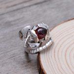 925 Sterling <b>Silver</b> Retro Scorpion King & Scorpio Garnet Open Ring Men Thai <b>Silver</b> Fine <b>Jewelry</b> Gift Finger Ring CH009759