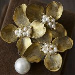 CMAJOR Flower Shaped Brooch with Pearl <b>Jewelry</b> <b>Silver</b> / Gold Color Brooches For Women
