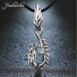 JIASHUNTAI Retro 925 <b>Silver</b> Sterling Pendant Necklace Dragon Red Eye <b>Silver</b> <b>Jewelry</b> For Cool Men