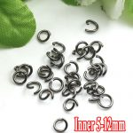 500G/PIECE Wholesale Lead Black Plated IRON Based 5/6/8/10/12mm Opening Split Ring Accessories for <b>Jewelry</b> <b>Making</b>