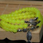 Original 6mm elegant natural lemon jades chalcedony multilayer bracelets round semi-precious stone beads <b>jewelry</b> <b>making</b> B2203