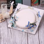 HIMSTORY Elegance Handmade Blue Butterfly Bridal <b>Wedding</b> Hairbands Party Hair <b>Jewelry</b> Tiaras And Crowns Bridal Headband Hairclip