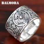 BALMORA 100% Real 999 Pure Silver <b>Jewelry</b> Vintage Dragon Rings for Men Male High Quality Silver Ring <b>Jewelry</b> Anillos XHR045115w