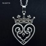 MCSAYS Viking <b>Jewelry</b> Square Crown Heart Celtics Knot Pendant <b>Antique</b> Hollow Queen Mary Necklace Mens Fashion Amulet Gifts 4SL
