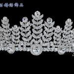 New 2015 Fashion Austrian Crystal Flower Leaf Tiaras Crown for <b>Wedding</b> <b>Jewelry</b> Tiara Hair Accessories Pageant Prom Party SHA8673