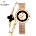 Starking Women Quartz Watches Classic <b>Silver</b> <b>Bracelet</b> Watch buy Casual Lady Gift Stainless Steel Sapphire Crystal Wristwatches