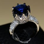 2016 New Fashion <b>Jewelry</b> 8ct Big AAA CZ Zirconia 925 sterling silver Simulated stones <b>Wedding</b> Crown Women Band Ring Size 5-11