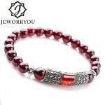 6-8mm <b>Silver</b> <b>Bracelet</b> 925 Women Natural Garnet <b>Bracelet</b> Wine Red Stone <b>Bracelets</b> Bangles <b>Bracelets</b> For Women Pulsera Hombre