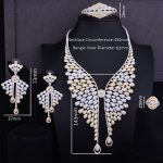 GODKI Famous Brand 2 Tone Super Luxury Angel Wing Feather Cubic Zirconia Women Wedding Dress <b>Necklace</b> Earring Lariat <b>Jewelry</b> Set