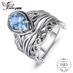 JewelryPalace Vintage 6.20ct Natural Sky Blue Topaz Hollow Carved Rings For Women 925 Sterling <b>Silver</b> Luxury Brand Fine <b>Jewelry</b>
