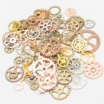 SHIDU Wholesale Mix Style Vintage Steampunk Charms Gear Pendant <b>Antique</b> Bronze Fit Bracelets Necklace DIY Metal <b>Jewelry</b> Making