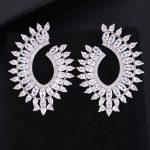 GODKI 45mm Unique Luxury Water Drop Trendy Cubic Zirconia American <b>Wedding</b> Party Earring <b>Jewelry</b> for Women High <b>Jewelry</b>