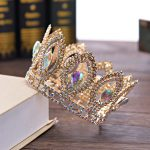 Bridal Tiaras and Crowns <b>Silver</b> Gold Hair Crown Full Crystal Rhinestone Queen Crown for Women Wedding Hair <b>Jewelry</b> Accessories