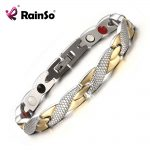 Rainso Brand New Magnetic 4 Health Care Elements 316L Stainless Steel Bracelets & Bangles for Women <b>Fashion</b> <b>Jewelry</b> OSB-692GFIR