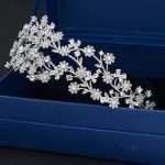 Fashion 3/2 Round Bridal <b>Wedding</b> Daisy Headband Hairband Tiara Flower Hair <b>Jewelry</b> Accessories Hairpieces Cubic Zirconia TGH001