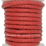 About the Fit 7mm 10Meters Genuine Braided Leather Cord Real Leather Crafts Beading Accessories Lacing <b>Jewelry</b> <b>Making</b> Woven Rope