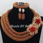 Latest Gold Red Bridal <b>Jewelry</b> Sets <b>Handmade</b> Crystal Beads Necklace New African Wedding Beads <b>Jewelry</b> Set Free Shipping ABF134