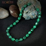 KCALOE Female <b>Jewelry</b> Green Malachite Necklace <b>Fashion</b> Zinc Alloy Lobster Clasp Beaded Collane Donna Chokers Necklaces For Women