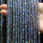 "AAA+ Natural Top grade Grey Moonstone Labradorstein Semi-precious Stone beads For <b>Jewelry</b> <b>Making</b> DIY 4/ 6/7 mm Strand 15.5"""