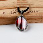 FNJ 925 <b>Silver</b> Pendant 100% Pure S925 Solid Thai <b>Silver</b> Synthetic Garnet Pendants for Women <b>Jewelry</b> Making