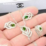 KJJEAXCMY Fine jewelry,Natural diopside alive 925 <b>silver</b> jewelry female fashion boutique a suit on behalf of <b>silver</b>