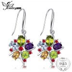 JewelryPalace Flower 6.2ct Natural Amethyst Garnet Peridot Citrine Blue Topaz Dangle <b>Earrings</b> Trendy 925 Sterling <b>Silver</b> Jewelry