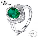JewelryPalace 2ct Simulated Emerald luxury Halo Ring 925 Sterling <b>Silver</b> <b>Jewelry</b> Fashion Ring for Women Fine <b>Jewelry</b>