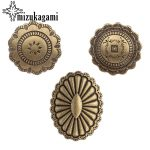 3pcs/lot Retro Zinc Alloy Round Flowers Bronze Color <b>Decorative</b> Oval concho Buttons Charms For DIY <b>Jewellery</b> Accessories