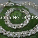<b>Handmade</b> lots of rice freshwater pearl <b>jewelry</b> sets free shipping