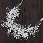 Fashion Handmade <b>Silver</b> Hair Accessories Crystal Flower Headbands Women Bride Headpiece Princess Tiara Hairband Wedding <b>Jewelry</b>