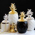 Home <b>Supplies</b> Creative Ceramics Plating Gold Pineapple Storage Tanks <b>Jewelry</b> Food Multifunctional Piggy Bank Decorative Accessor
