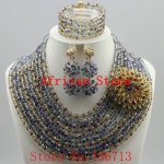 Newest african beads <b>jewelry</b> set 2016 nigerian wedding african beads 7 color indian multi layer <b>necklace</b> / Earrings women R821