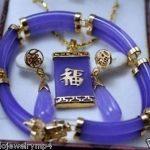 Prett Lovely Women's Wedding <b>Jewelry</b> Purple GEM Link Bracelet Stud Earrings Pendant Necklace Set >AAA GP Bridal moda