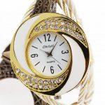 Fashion Luxury <b>Bracelet</b> Watch Women Top <b>Silver</b>/Golden/Rose Golden Strap Full Steel Quartz Wrist Watch Bangle Case Relojes Female