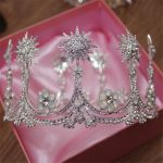 Vintage Baroque Tiaras Hair Accessories Wedding Bridal Bridesmaid Women Girl Crystal Star Tiara Round Crown Hair <b>Jewelry</b>