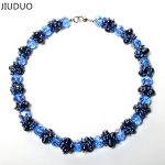 100% Genuine Real Freshwater Cultured Mutilayer Blue Pearl <b>Necklace</b> Fashion for Female Gift 925 Sterling <b>Silver</b> Clasp Jewelry