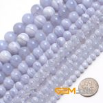 Round Blue Chalcedony Beads Natural Stone Beads DIY Loose Beads For <b>Jewelry</b> Making For Bracelet Making Strand 15″ Free Shipping