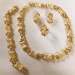 KINGDOM MA Wholesale Gold Color Romantic Classic Wedding Bone Necklace Bracelet Party <b>Jewelry</b> Set Costume Statement <b>Accessories</b>