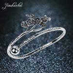 JIASHUNTAI Retro 990 <b>Sterling</b> <b>Silver</b> Bangles For Women <b>Jewelry</b> Plum Blossom Design Female Handmade Best Gift