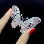 pink color butterfly brooch 925 <b>sterling</b> <b>silver</b> with cubic zircon insect fashion women girl <b>jewelry</b> free shipping pendant