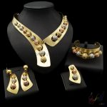 Yulaili Free Shipping Unique Round Bead Design Pure <b>Silver</b> Gold Color Dubai Jewelry Set Anniversary Four Jewelry Sets