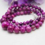 6-14mm Classic Ethnic style Rose beads Chalcedony Turriform women Necklace Girls Neck chain ladies gifts <b>Jewelry</b> <b>Making</b> Design