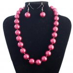 New Discount 12mm Rose Red Sea Shell Pearl Necklace Earrings Beads Fashion <b>Jewelry</b> <b>Making</b> Design <b>Jewelry</b> Set Natural Stone